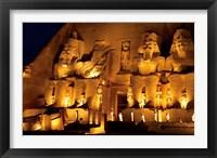 Framed Egypt, Abu Simbel, Greater Temple of Ramses II, Columns
