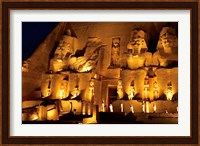 Framed Egypt, Abu Simbel, Greater Temple of Ramses II, Columns