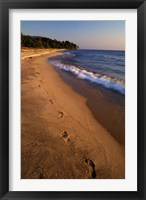 Framed Africa, Tanzaniz, Lake Tanganika. Beach footprints