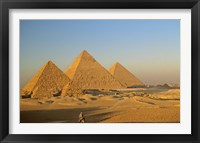 Framed Giza Pyramid, Giza Plateau, Old Kingdom, Egypt