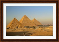 Framed Giza Pyramid, Giza Plateau, Old Kingdom, Egypt