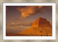 Framed First Pyramid of Pharaoh Snerfu, 4th Dynasty, Meidum, Old Kingdom, Egypt
