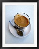 Framed Espresso Drink at Cafe in Essaouira, Morocco