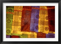 Framed Detail of Adinkra Cloth, Market, Sampa, Brongo-Ahafo Region, Ghana