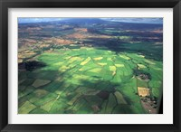 Framed Aerial View of Fields in Northern Madagascar