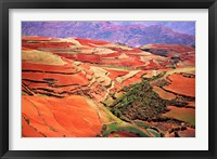 Framed China, Yunnan, Tilled Red Laterite, Agriculture