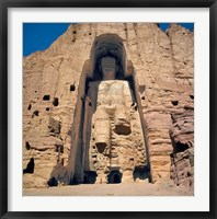 Framed Afghanistan, Bamian Valley, Great Buddha base