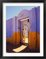 Framed Courtyard Entrance in Nubian Village Across the Nile from Luxor, Egypt