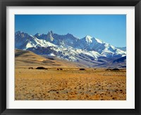 Framed Afghanistan, Bamian Valley, Mountains, Kuchi camp