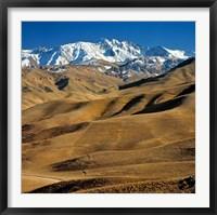 Framed Afghanistan, Bamian Valley, Hindu Kush Mountains