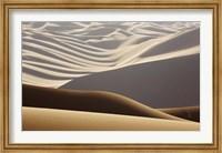 Framed Abstract of desert shapes, Badain Jaran Desert, Inner Mongolia, China