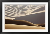 Framed Abstract of desert shapes, Badain Jaran Desert, Inner Mongolia, China