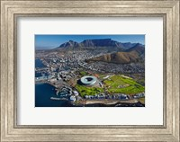 Framed Aerial of Stadium, Golf Club, Table Mountain, Cape Town, South Africa