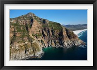 Framed Aerial view of Chapman's Peak Drive, Cape Town, South Africa