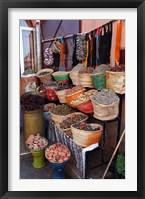Framed Africa, Morocco, Marrakech. Spices of the mellah of Marrakech.