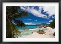 Framed Anse Patates Beach, La Digue Island, Seychelles