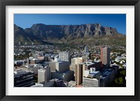 Framed Cape Town CBD and Table Mountain, Cape Town, South Africa