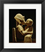 Framed Akhenaten with child, Egyptian Museum, Amarna, Cairo, Egypt