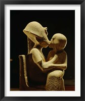Framed Akhenaten with child, Egyptian Museum, Amarna, Cairo, Egypt