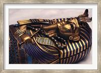 Framed Gold Coffinette, Tomb King Tutankhamun, Valley of the Kings, Egypt