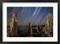 Framed Tufa formations at Mono Lake, California