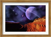 Framed Cosmic Landscape of Another Planet