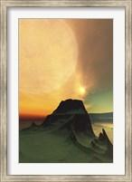 Framed Cosmic landscape on another world
