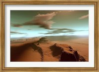 Framed Overhead view of a vast desert wilderness