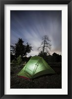 Framed Camping under the clouds and stars in Cleveland National Forest, California