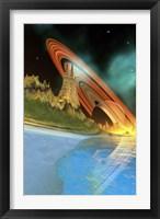 Framed Alient Planet Cosmic Seascape