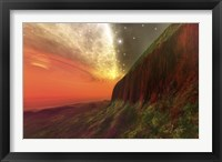 Framed Cosmic seascape on another planet