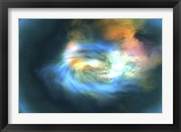 Framed Cosmic space image of the universe