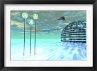 Framed Life under domes on an alien waterworld