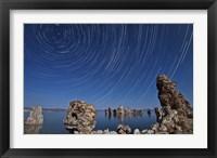 Framed Moonlight illuminates the tufa formations at Mono Lake, California