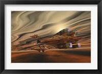 Framed Spacecraft fly among spacial eddies in deep space