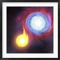 A binary star system Framed Print