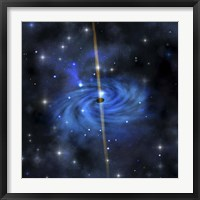 Framed dense star cluster forms this galaxy out in space