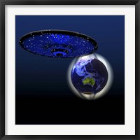 Framed Magnetic Force Field Around Earth and Flying Saucer
