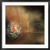 Framed galaxy swirls in the universe
