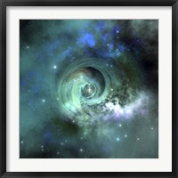 Framed gorgeous nebula in outer space