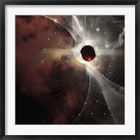 Framed nebula forms gossamer cobweb like strands in the cosmos