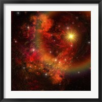 Framed star explodes sending out shock waves throughout the universe