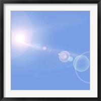 Framed Abstract cosmic image of suns and planets