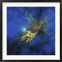 Framed Cosmic image of our vast universe