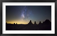 Framed Milky Way over Trona Pinnacles Trona, California