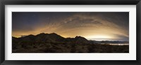 Framed partly coiudy sky over Borrego Springs, California