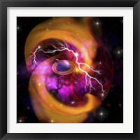 Framed Evolution of planet building with surrounding cosmic dust and electrical charges