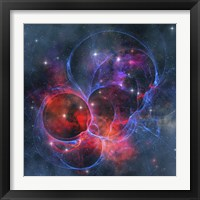 A dark nebula is a type of interstellar cloud Framed Print