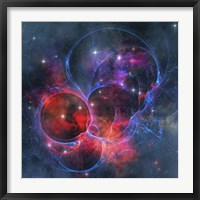 A dark nebula is a type of interstellar cloud Framed Print