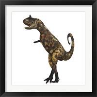 Framed Carnotaurus dinosaur